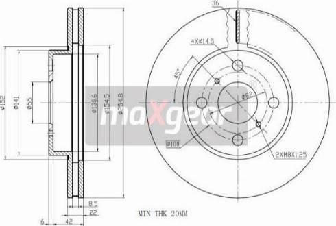 Maxgear 19-0971 - Bremžu diski interparts.lv