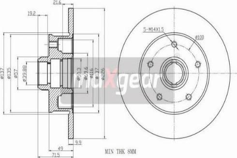 Maxgear 19-0977 - Bremžu diski interparts.lv