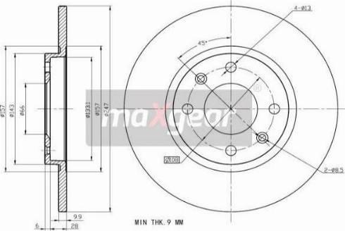 Maxgear 19-0698 - Bremžu diski interparts.lv