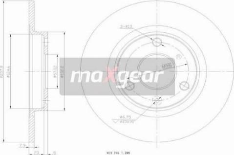 Maxgear 19-0697 - Bremžu diski interparts.lv