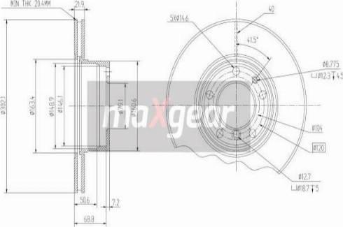 Maxgear 19-0689 - Bremžu diski interparts.lv
