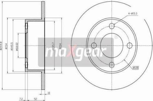 Maxgear 19-0685 - Bremžu diski interparts.lv