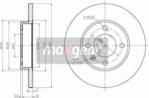 Maxgear 19-0681 - Bremžu diski interparts.lv
