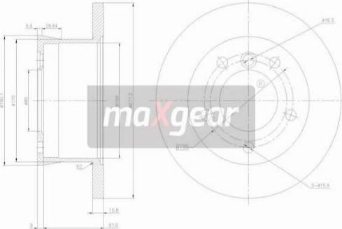 Maxgear 19-0794 - Bremžu diski interparts.lv