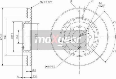 Maxgear 19-0741 - Bremžu diski interparts.lv