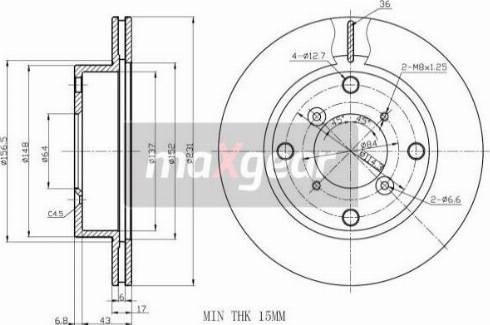 Maxgear 19-0750 - Bremžu diski interparts.lv