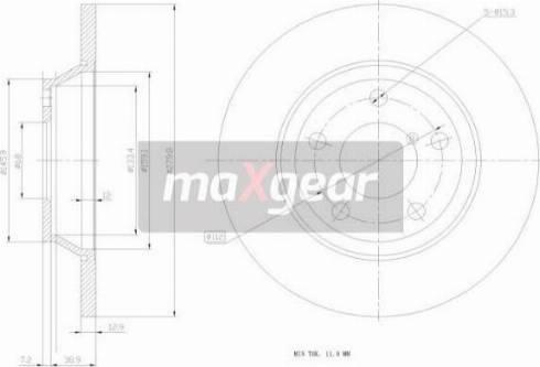 Maxgear 19-0765 - Bremžu diski interparts.lv