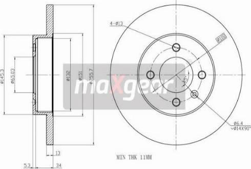 Maxgear 19-0767 - Bremžu diski interparts.lv
