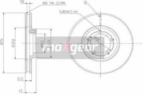Maxgear 19-0706 - Bremžu diski interparts.lv