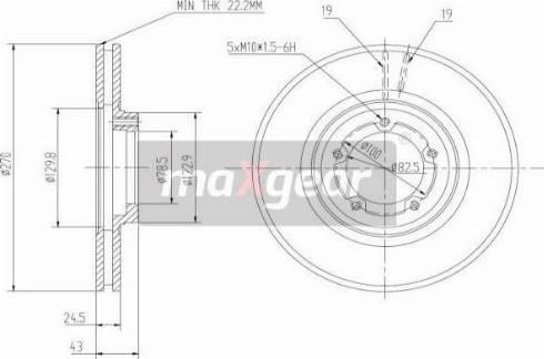 Maxgear 19-0707 - Bremžu diski interparts.lv