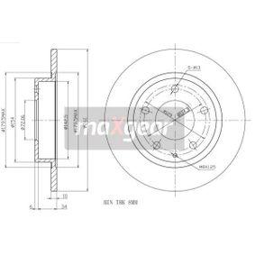 Maxgear 19-0717 - Bremžu diski interparts.lv