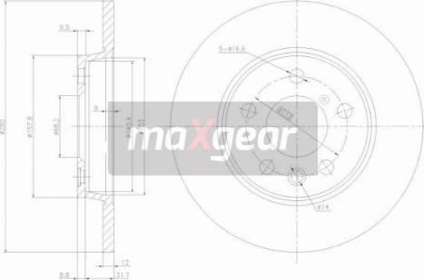 Maxgear 19-0789 - Bremžu diski interparts.lv