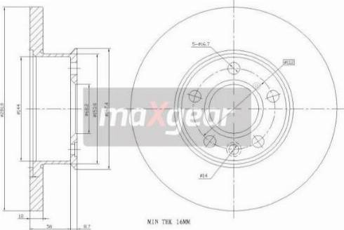 Maxgear 19-0784 - Bremžu diski interparts.lv