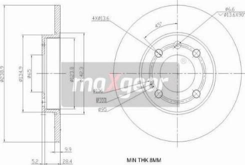 Maxgear 19-0786 - Bremžu diski interparts.lv