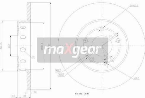 Maxgear 19-0780 - Bremžu diski interparts.lv