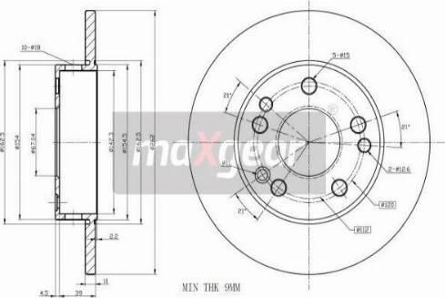 Maxgear 19-0721 - Bremžu diski interparts.lv