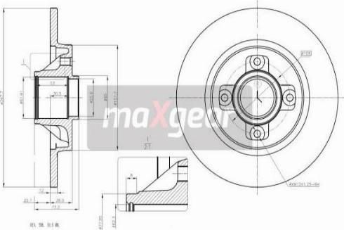 Maxgear 19-1963 - Bremžu diski interparts.lv