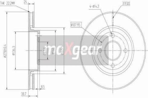 Maxgear 19-1001 - Bremžu diski interparts.lv