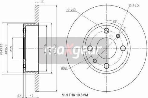Maxgear 19-1010 - Bremžu diski interparts.lv