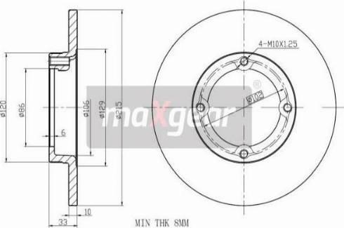 Maxgear 19-1032 - Bremžu diski interparts.lv