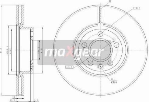 Maxgear 19-1024 - Bremžu diski interparts.lv