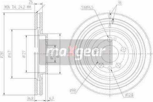 Maxgear 19-1026 - Bremžu diski interparts.lv