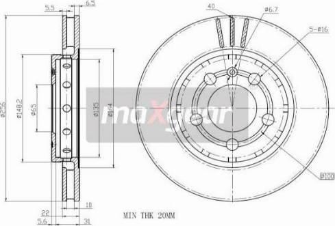 Maxgear 19-1027 - Bremžu diski interparts.lv