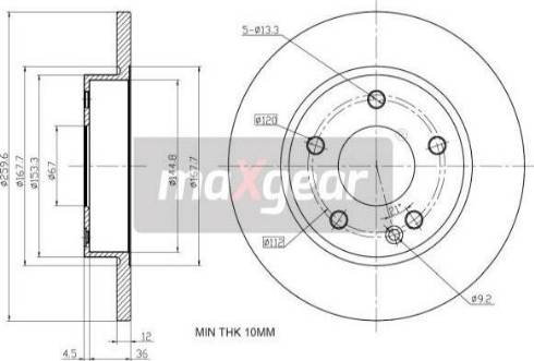 Maxgear 19-1193 - Bremžu diski interparts.lv