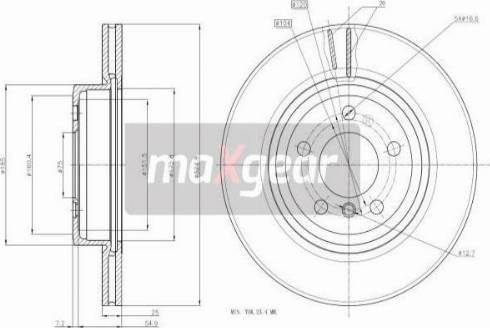 Maxgear 19-1841 - Bremžu diski interparts.lv