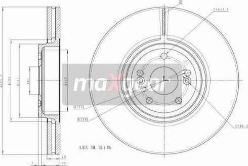 Maxgear 19-1300 - Bremžu diski interparts.lv