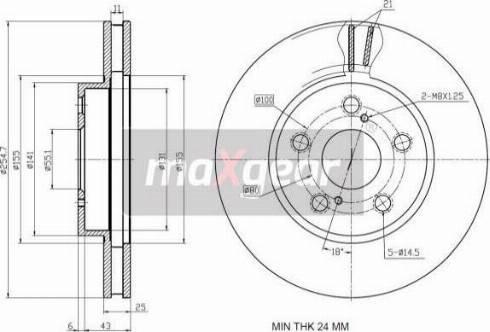 Maxgear 19-1243 - Bremžu diski interparts.lv