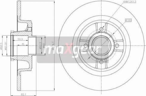 Maxgear 19-1278 - Bremžu diski interparts.lv