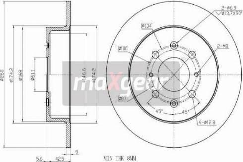 Maxgear 19-3189 - Bremžu diski interparts.lv