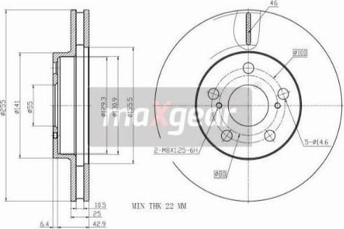 Maxgear 19-3340 - Bremžu diski interparts.lv