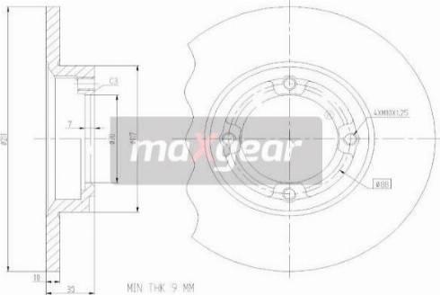 Maxgear 19-3351 - Bremžu diski interparts.lv