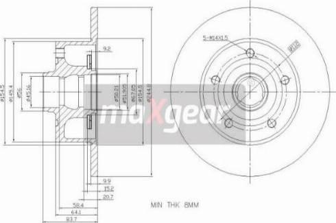 Maxgear 19-3362 - Bremžu diski interparts.lv