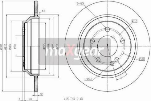 Maxgear 19-3240 - Bremžu diski interparts.lv