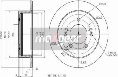 Maxgear 19-3243 - Bremžu diski interparts.lv