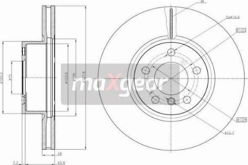 Maxgear 19-3207 - Bremžu diski interparts.lv