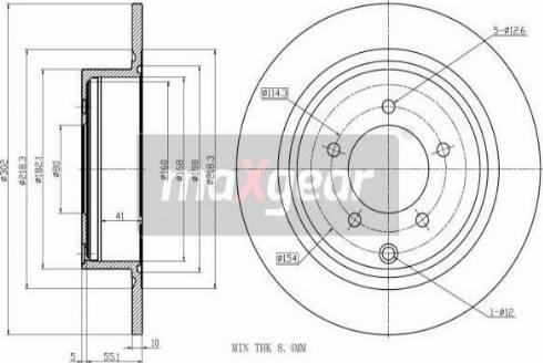 Maxgear 19-3214 - Bremžu diski interparts.lv
