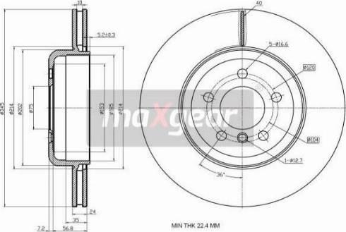 Maxgear 19-3235 - Bremžu diski interparts.lv