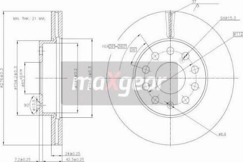 Maxgear 19-3238 - Bremžu diski interparts.lv