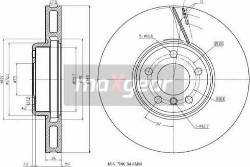 Maxgear 19-3233 - Bremžu diski interparts.lv