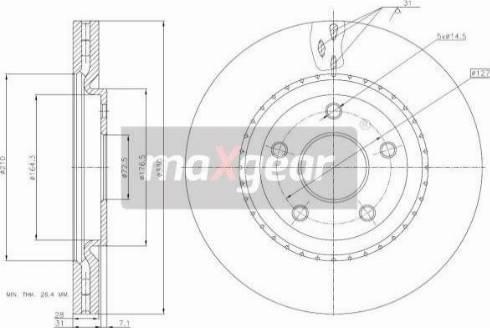 Maxgear 19-3226 - Bremžu diski interparts.lv