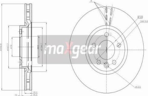 Maxgear 19-3221 - Bremžu diski interparts.lv