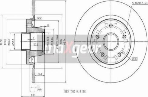 Maxgear 19-3228 - Bremžu diski interparts.lv