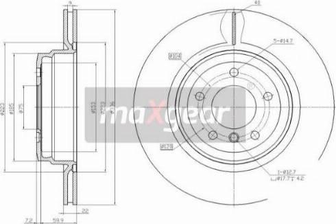 Maxgear 19-2455 - Bremžu diski interparts.lv