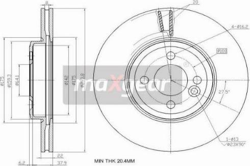 Maxgear 19-2456 - Bremžu diski interparts.lv