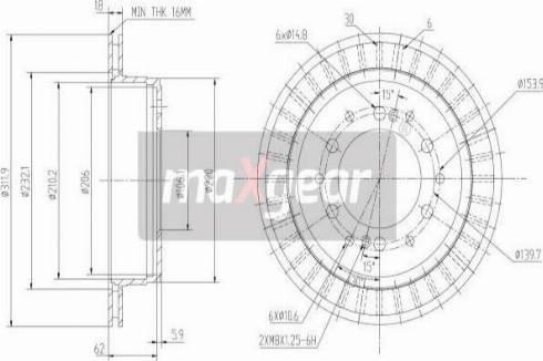 Maxgear 19-2464 - Bremžu diski interparts.lv