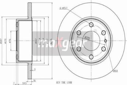 Maxgear 19-2404 - Bremžu diski interparts.lv